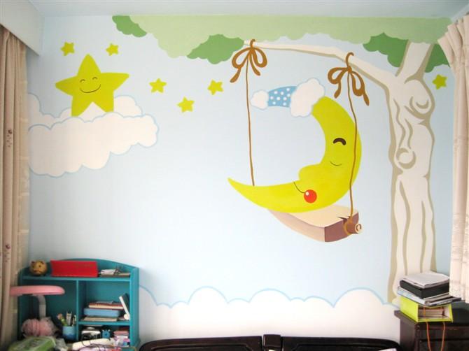 适的手绘墙画素材